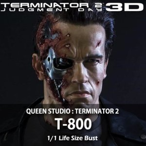 [예약종료][QUEEN STUDIOS] Terminator 2  Judgment Day 3D : T-800 Life-Size Bust